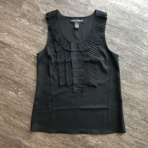 Isabella Rodriguez black ruffle dress top